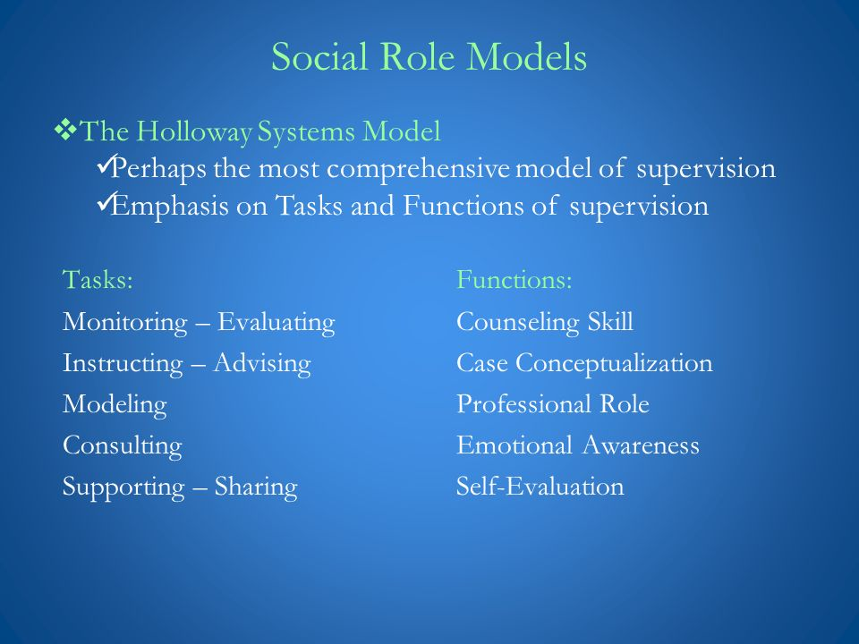 discrimination model of supervision essay Supervisor training: a discrimination model in a doctoral program, i was able to use the article for an assignment related to supervision models.