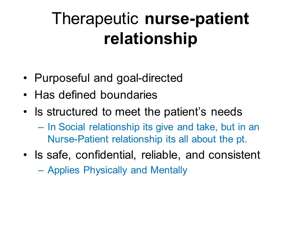 difficult nurse patient relationship and trust