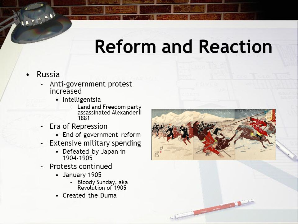 Reform and Reaction Russia Anti-government protest increased