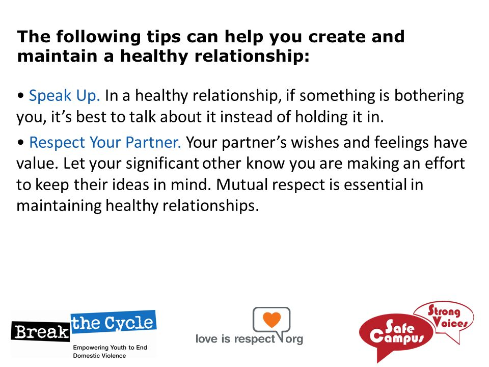 How Do You Maintain A Healthy Relationship