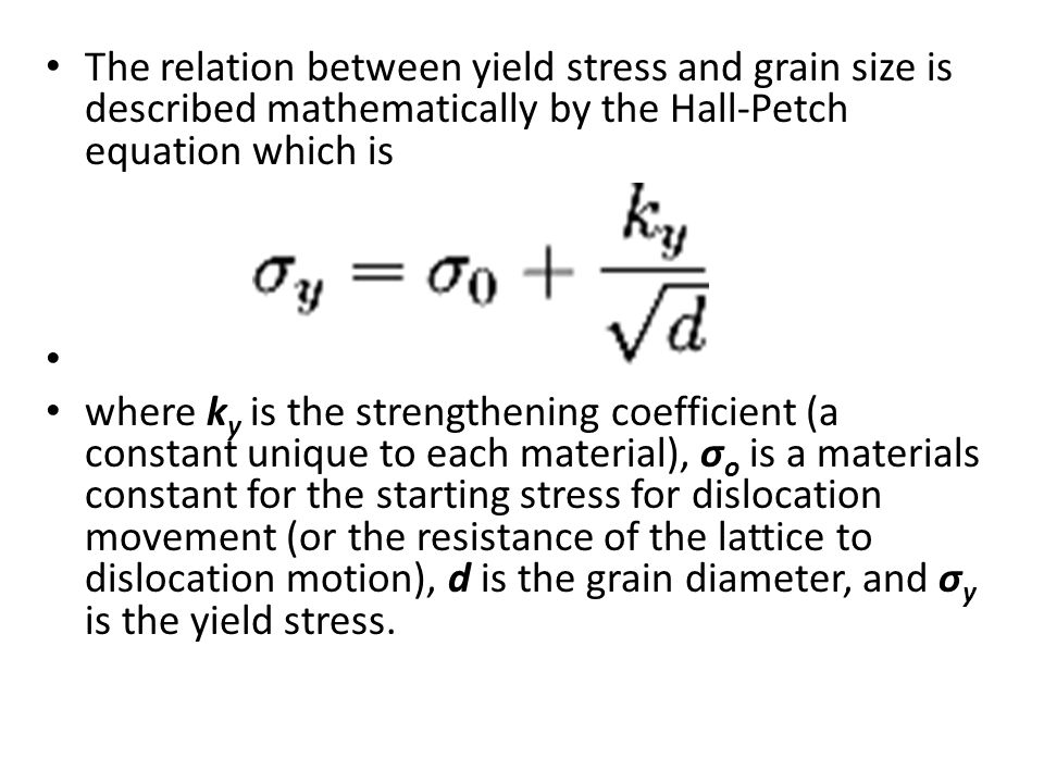 relationship between yield and ultimate strength