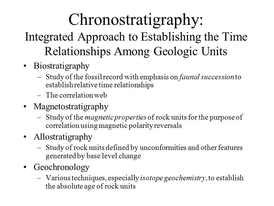 Chronostratigraphic correlation based on age equivalence ...