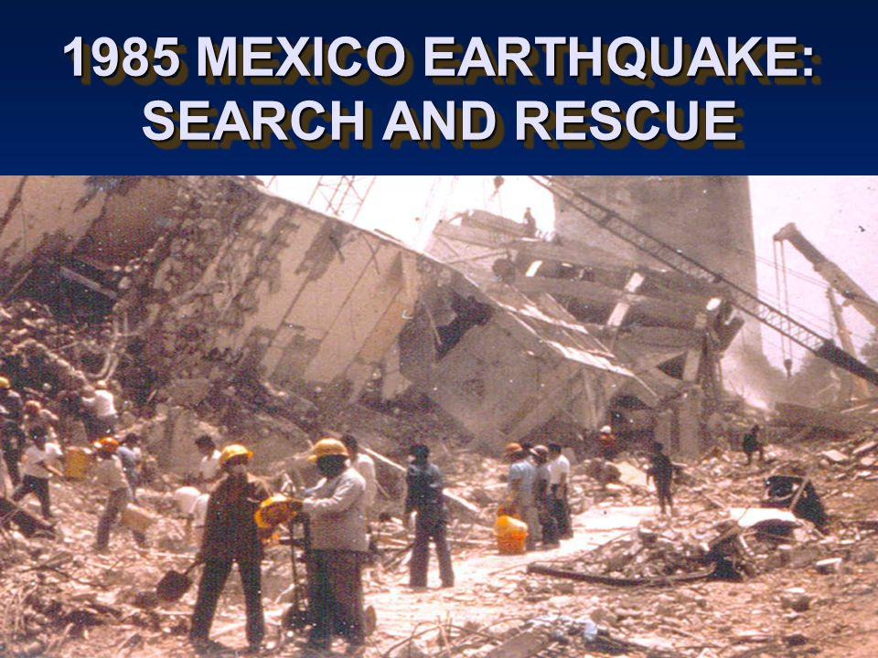 the 1985 mexico s earthquake When this newspaper was being read in san francisco, a second disaster hit  mexico the chronicle's front page from sept 20, 1985, covers.
