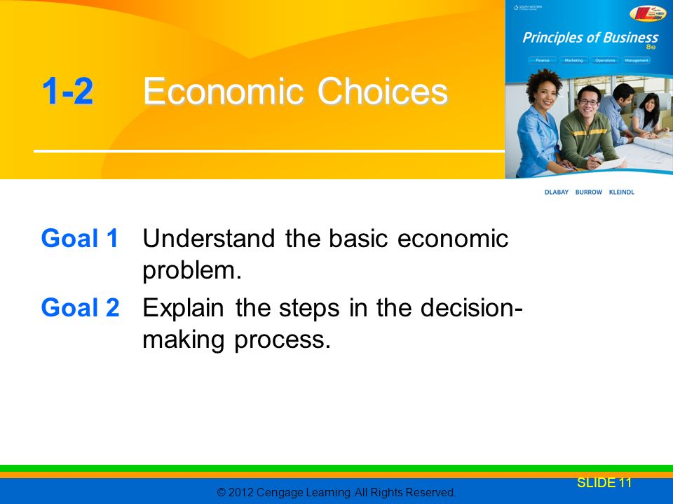 1-2 Economic Choices Goal 1 Understand the basic economic problem.