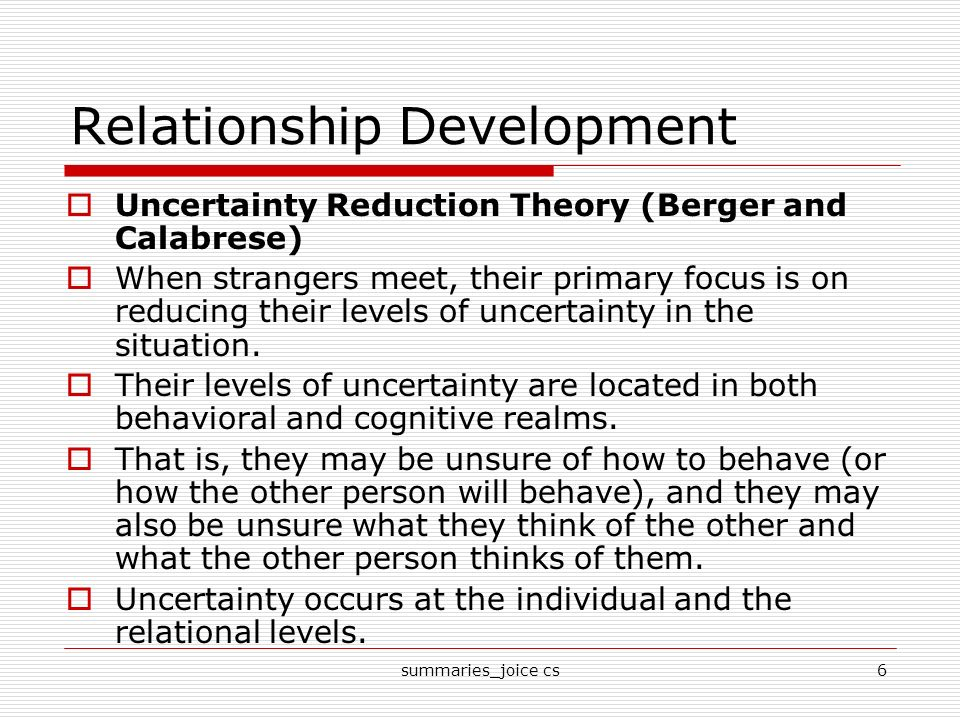 the development of interpersonal relationship in the social penetration theory The development of interpersonal relationships: social penetration processes  openness in relationship development:  to teach social penetration theory.