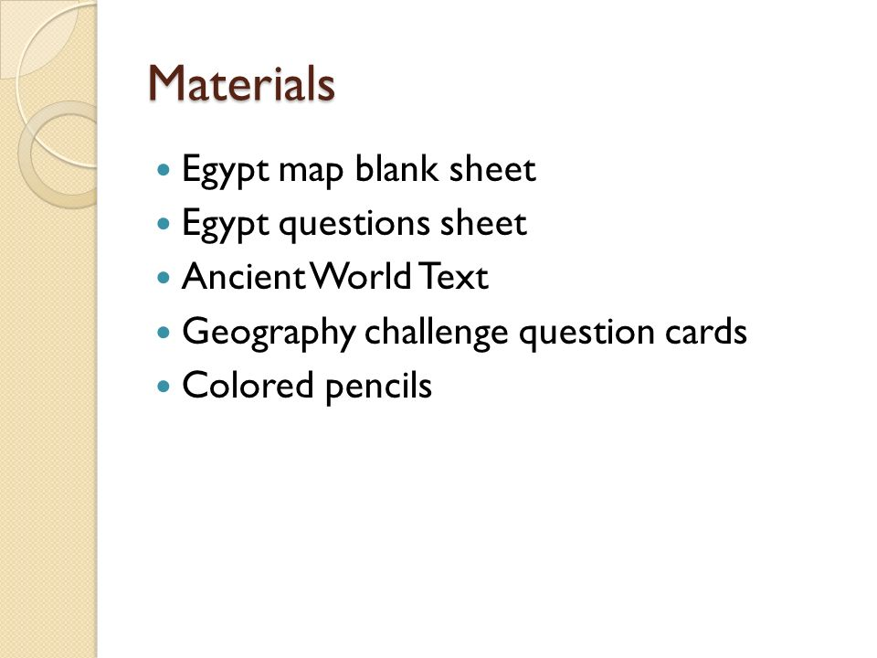Bellringer Copy The Objective I Will Be Able To Map And - Map of egypt blank