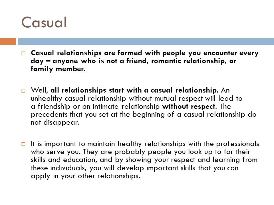 Casual dating or relationship