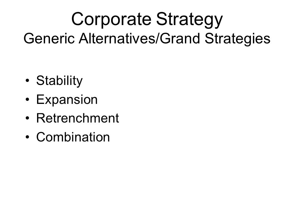 grand strategy alternatives Grand strategy matrix: strategic alternative launch new low cost brand worldwide to cater the low or medium income level population documents similar to marriott international (strategic mangment project) skip carousel carousel previous carousel next.