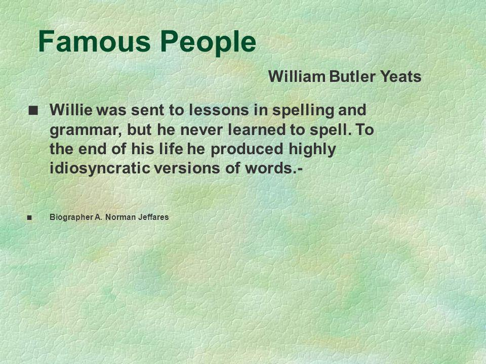 Famous People William Butler Yeats