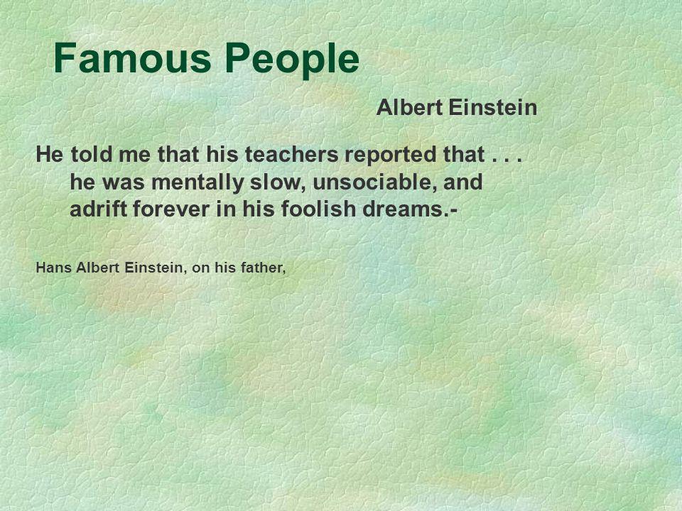 Famous People Albert Einstein