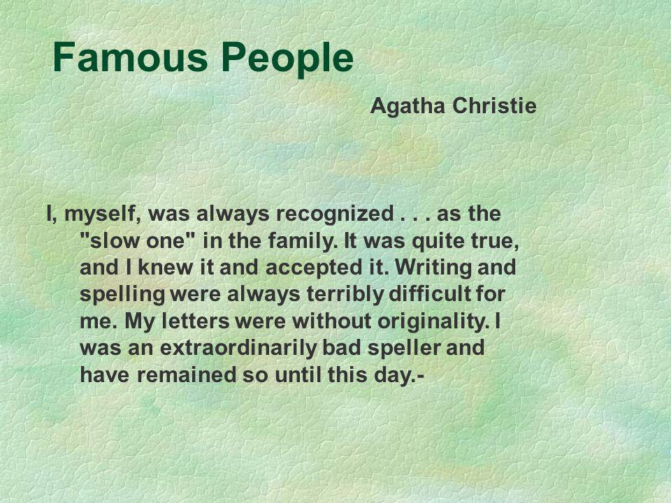 Famous People Agatha Christie