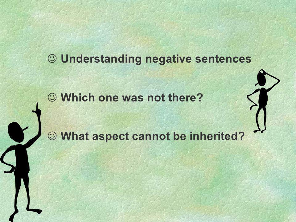 Understanding negative sentences