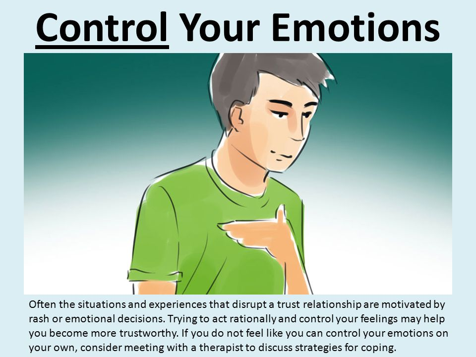 control your feelings relationship