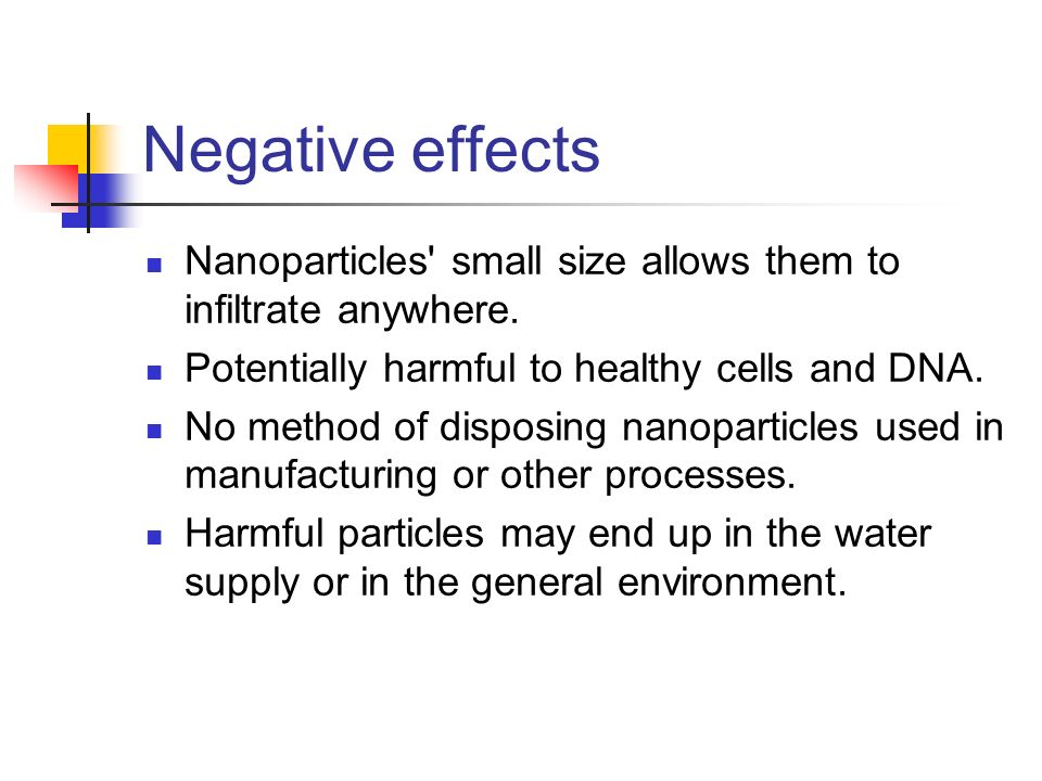 risks of engineered nanoparticles for the environment There are certain concerns regarding the safety for the environment and human health from the use of engineered nanoparticles (enps) which leads to unintended.
