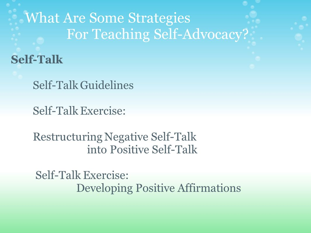 Teaching The Gifted The Skills For Self-Advocacy - ppt video ...