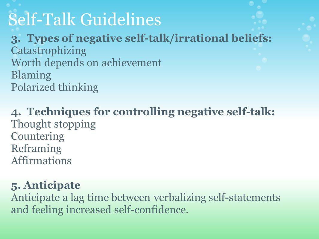 positive self talk statements pdf