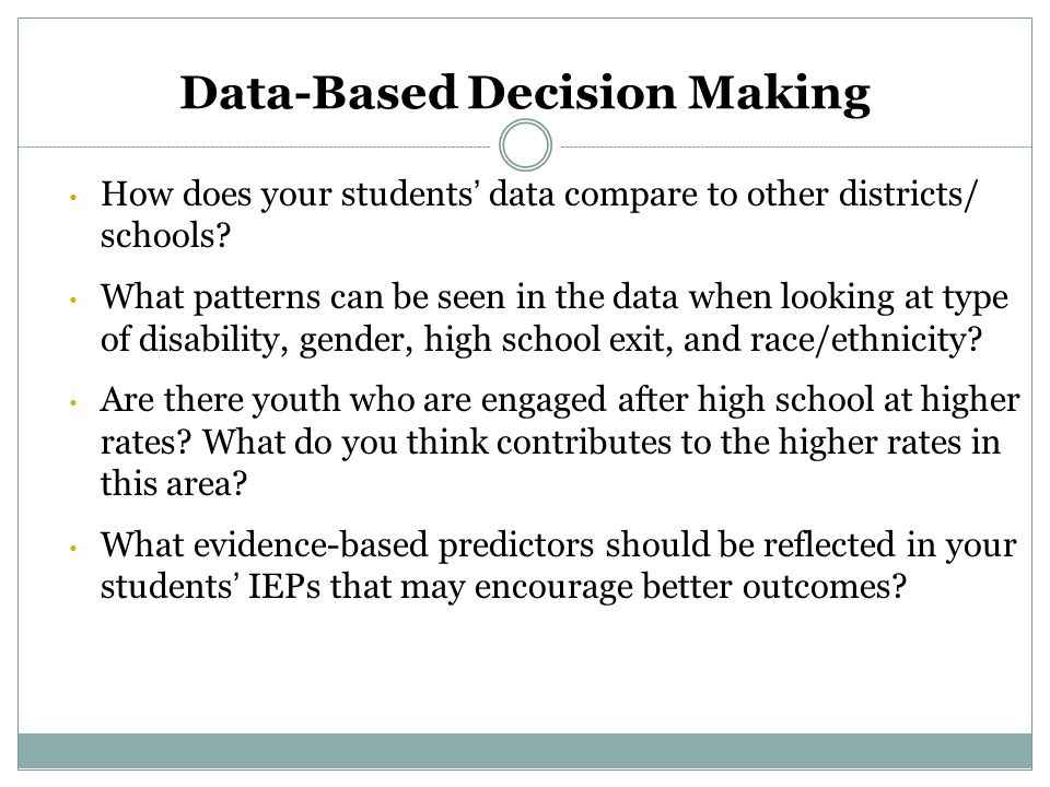 data based decision making Rti action network: the information you need to take action, the networking you need to be successful.