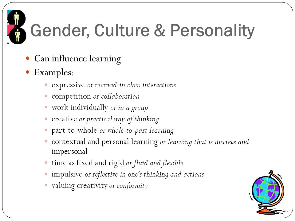 Gender, Culture & Personality