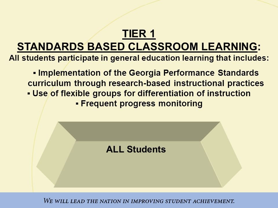 Tiered Classroom Design Standards ~ Response to intervention georgia s pyramid ppt download
