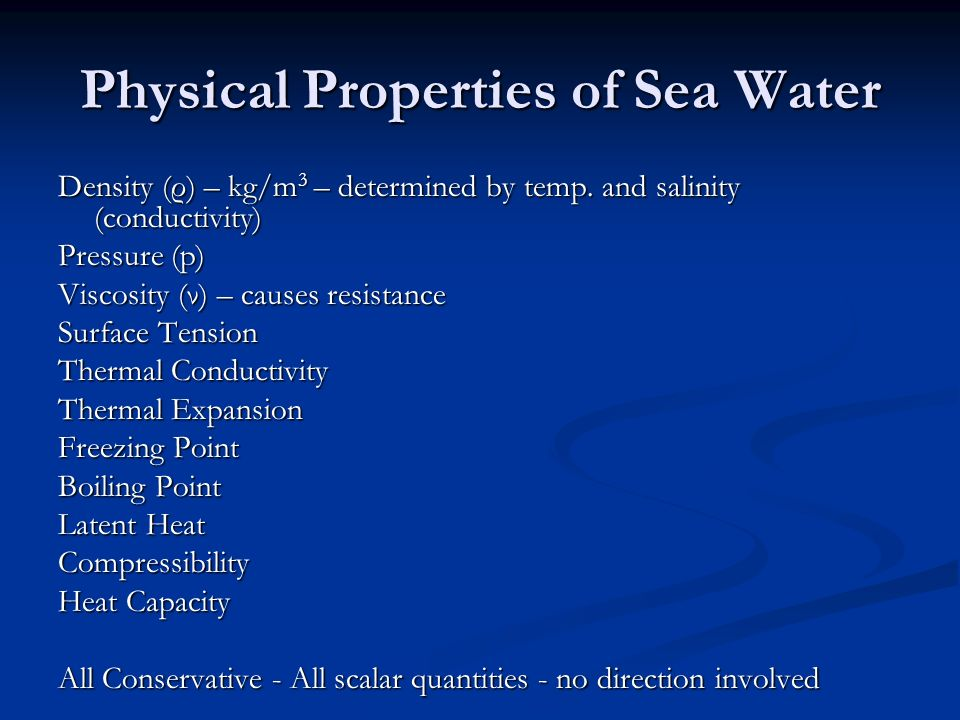 Physical Properties of Sea Water