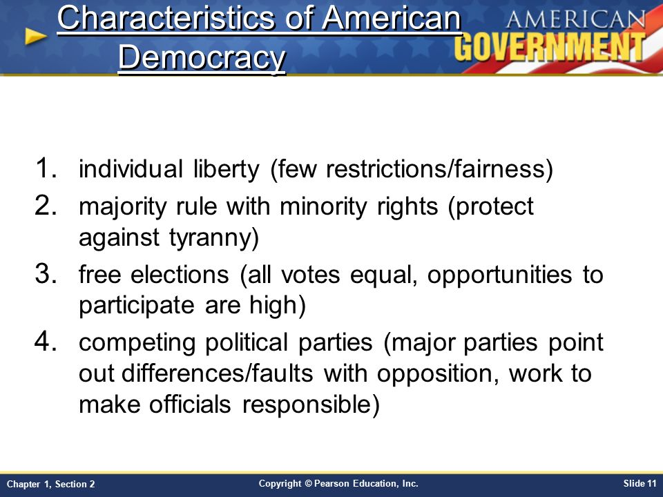 Essay characteristics american democracy