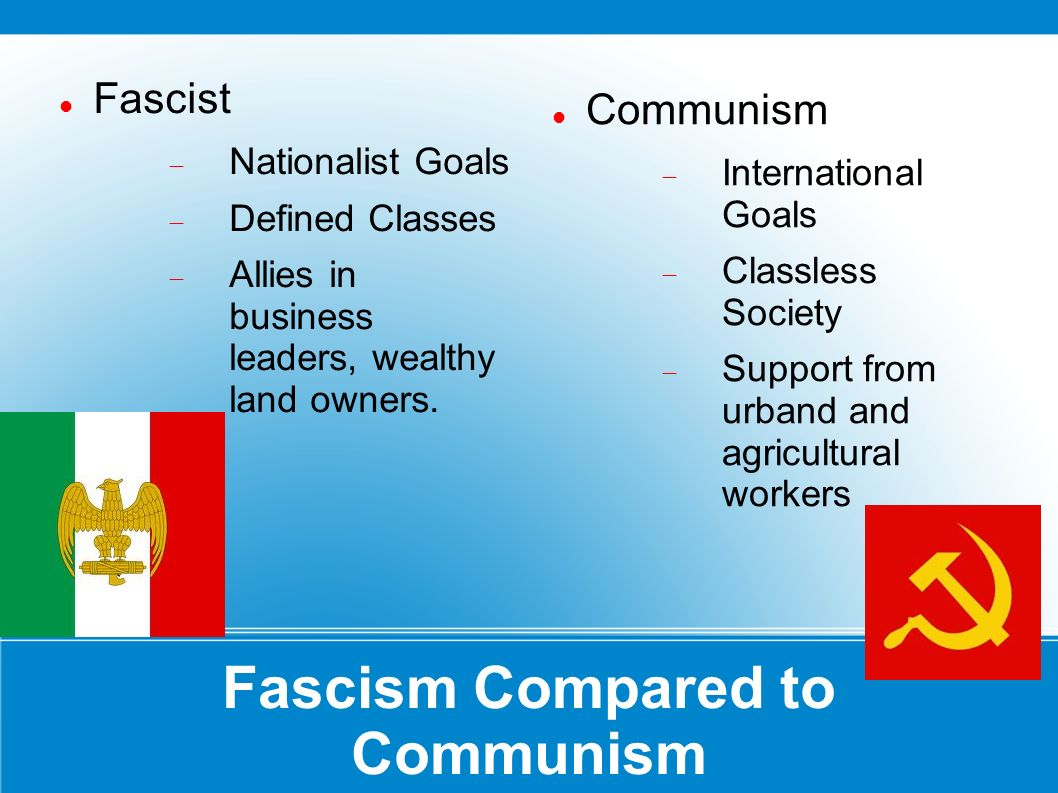 fascism compared to communism essay Fascism as apposed to communism why is it that germany's fascism as opposed to communism essay  lasted a relatively short time compared to russia's communism.