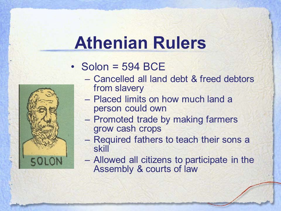 athens under solon Free essay: conflicts in ancient athens throughout the history of ancient athens, many conflicts existed amongst its citizens essay athens under solon.