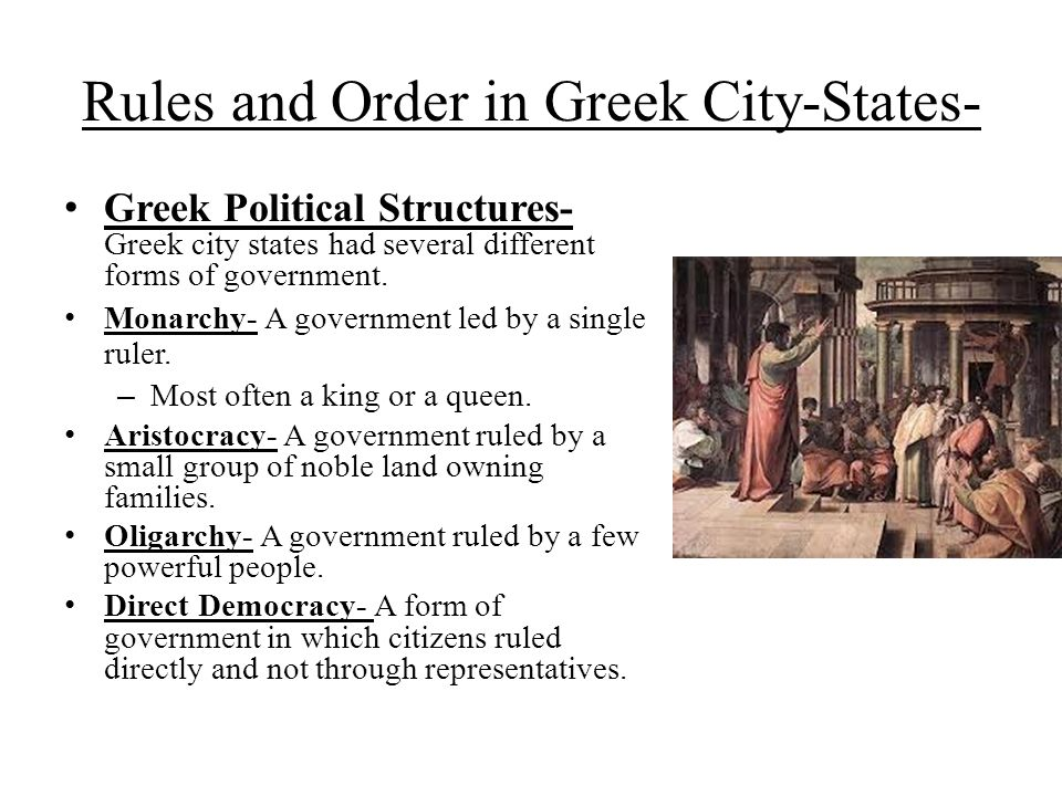 Rules and Order in Greek City-States-