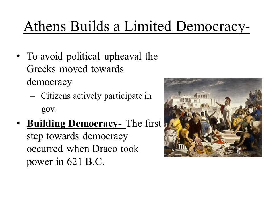 Athens Builds a Limited Democracy-