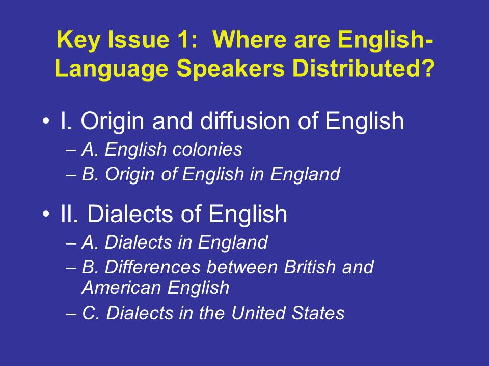 an introduction to knowing english language in the united states Teaching english as a 'second language' in kenya and the united states: convergences and  english language learners introduction  begin learning english as .