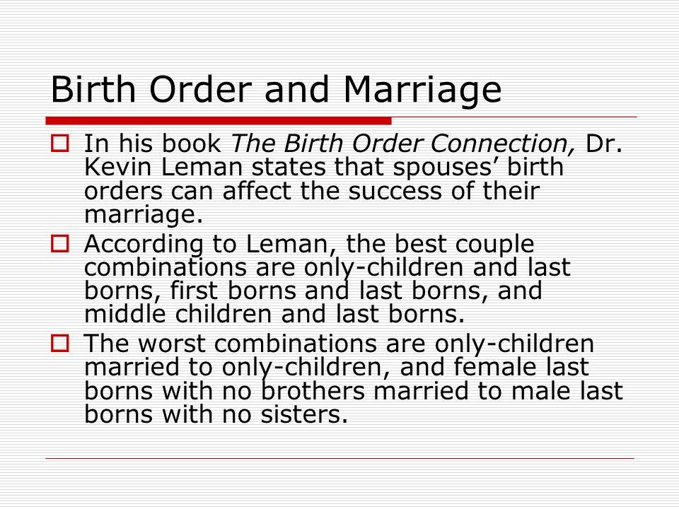 Birth order dating relationships