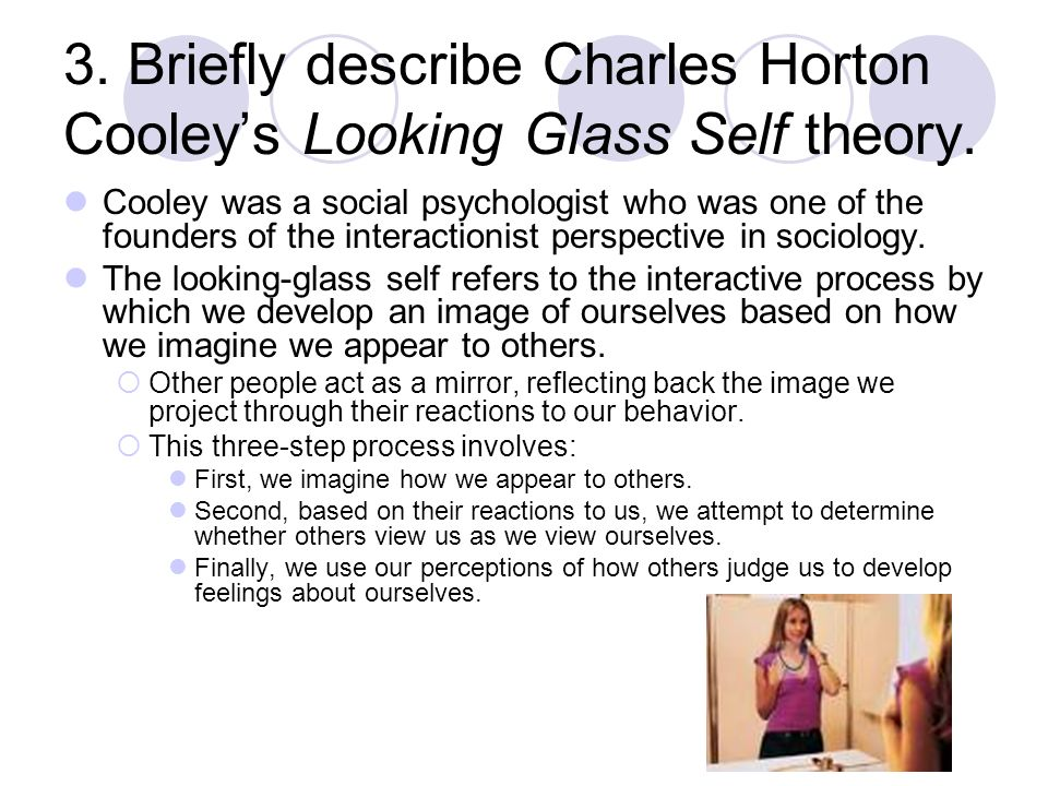 social theory looking glass self Cooley's looking glass self debra marshall loading  political theory - karl marx - duration: 9:28 the school of life 3,691,278 views 9:28.