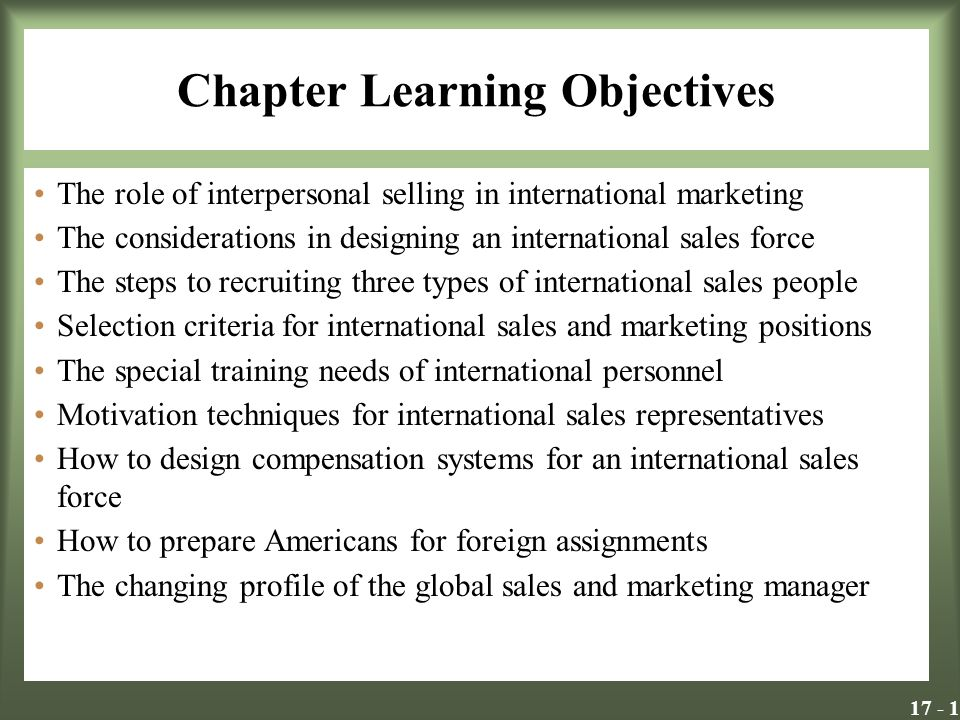 Selection criteria for international assignment