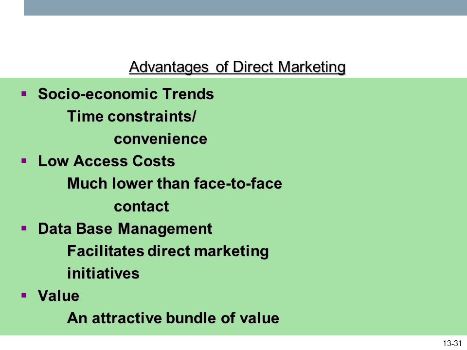advantages of online marketing pdf