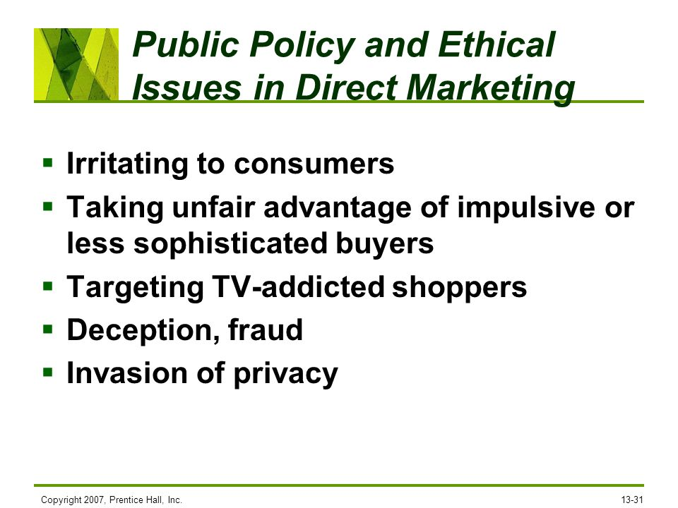 ethical issues in personal selling Marketing ethics is an area of applied ethics which deals with the moral  principles behind the  value-oriented framework, analyzing ethical problems on  the basis of the  they also come into contact with confidential and personal  information, which  this results in the expropriation of ethics itself as a selling  point or a.