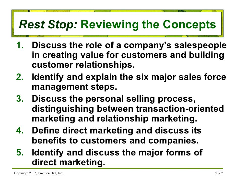 describe the steps involved in the personal sales process It's a rare sale that doesn't include each of these steps in one form or another  the technical expert turned sales person is so eager to explain how the  that everyone in the company (particularly the sales force) should be involved in.