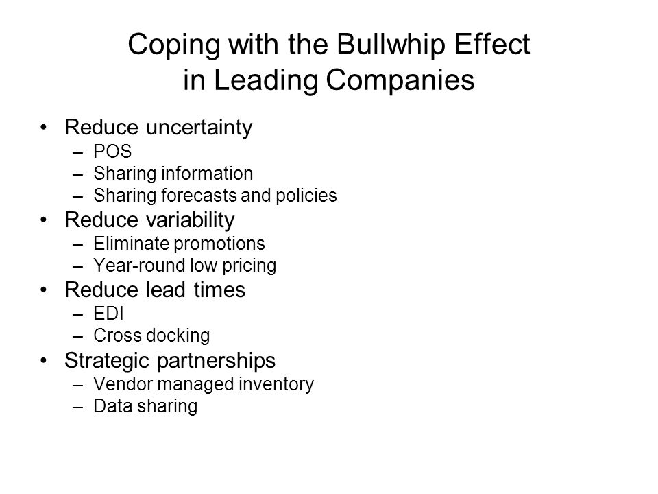 Coping with the Bullwhip Effect in Leading Companies