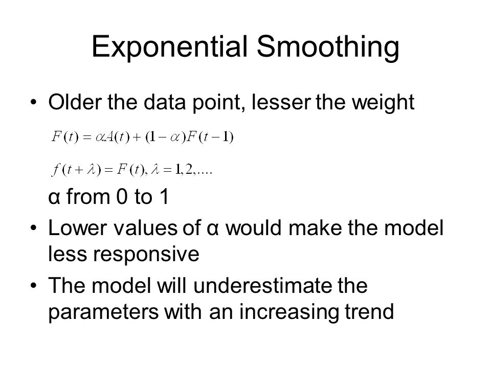 Exponential Smoothing