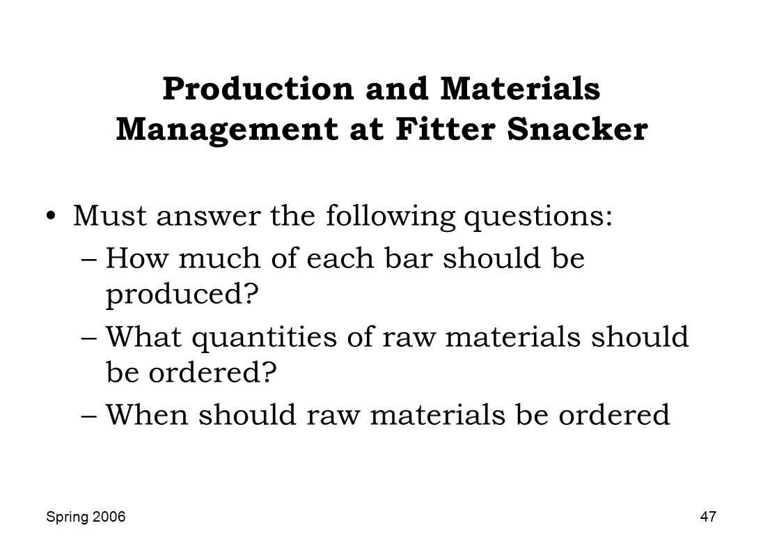 fitter snacker erp case Fictitious case study easy to play monday morning quarterback but many, many,   describe the benefits of crm, a useful extension of erp  how many different  information systems does fitter snacker operate and what do they each do.