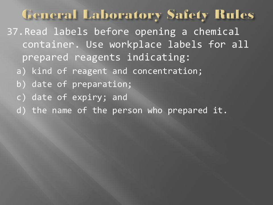 expiration dating of laboratory reagents The determination of the expiration date of a chemical solution is generally in the laboratory, the stability of reagents and solutions should be checked just.
