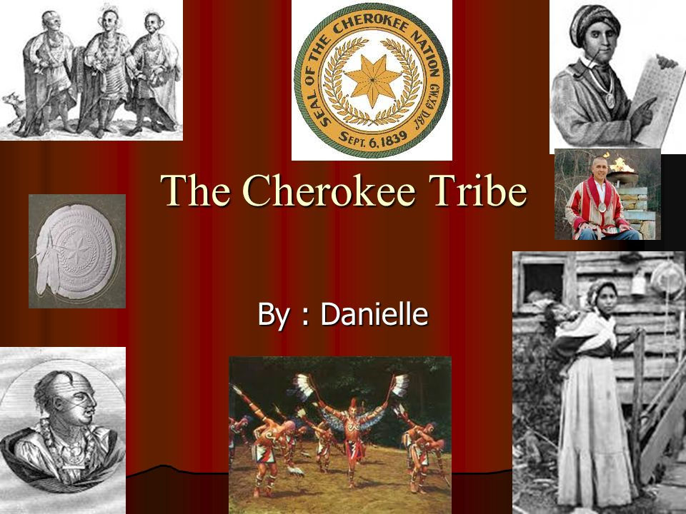The Cherokee Tribe By : Danielle