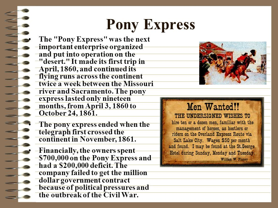 """the pony express significant role in Part of a mural by frank albert mechau, jr called """"pony express in the   marked the launch of the famous pony express, the remarkable mail."""
