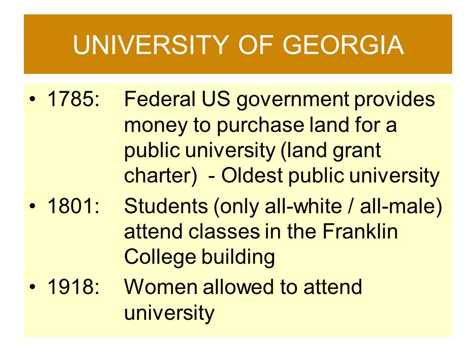 University of georgia 1785 federal us government provides for How to get money to buy land