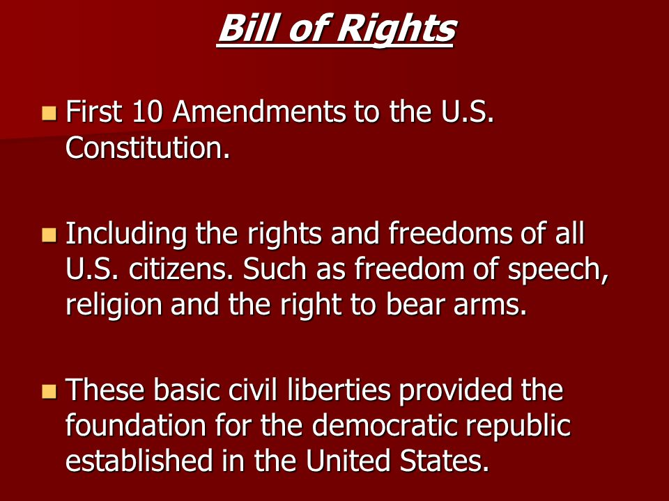 amendments of the u s constitution History surrounding the 27 amendments to the united states (us) constitution.