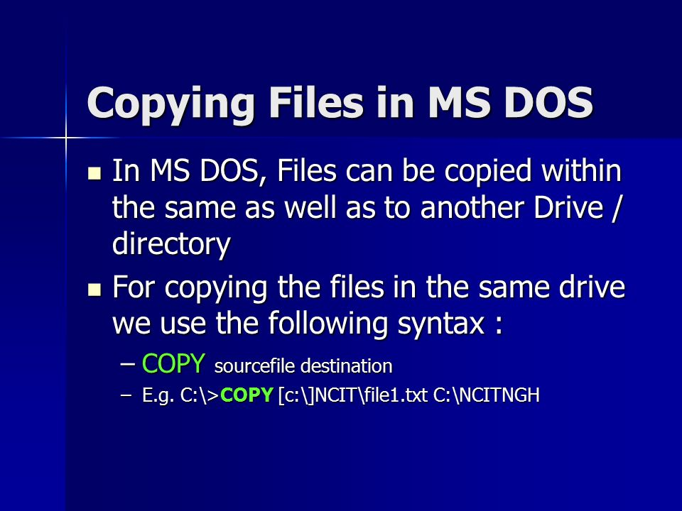 dos in c