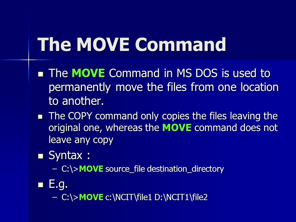 dos copy command do not overwrite a file