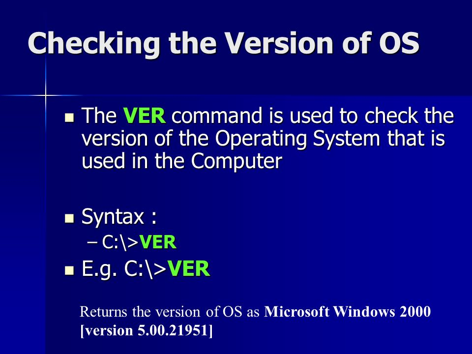DOS Commands What is a command Types of DOS Commands Basic Terms ...