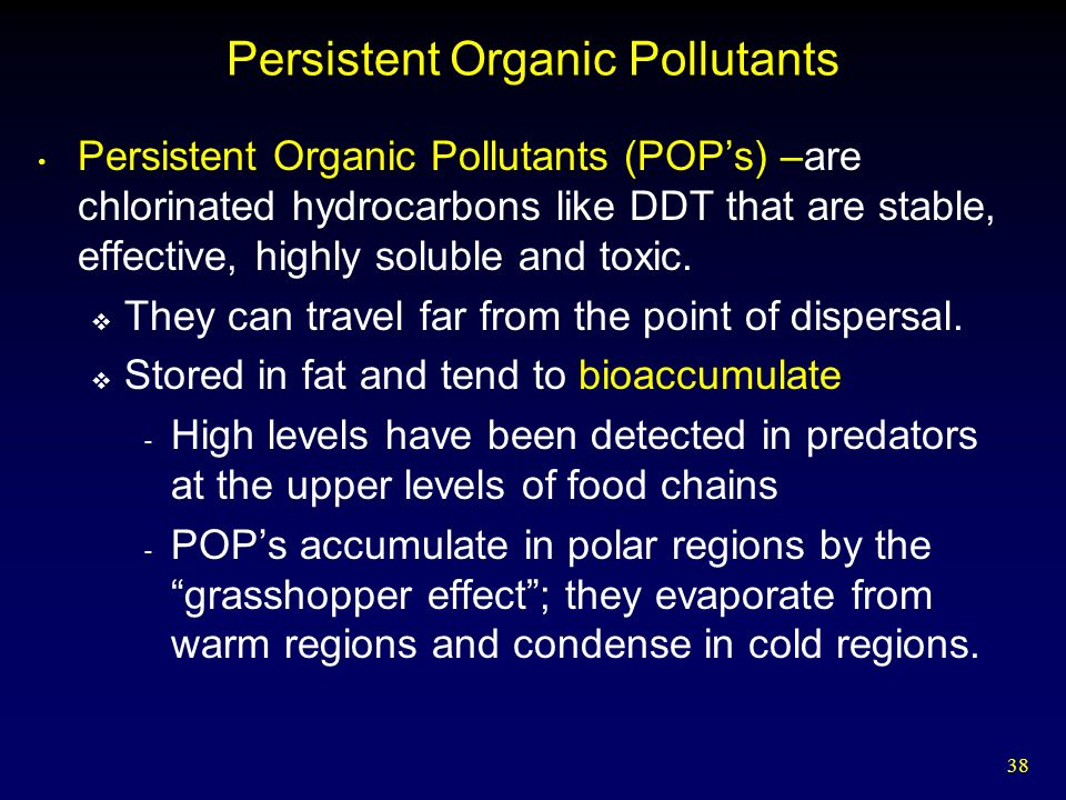 Persistent organic pollutants in the environment essay
