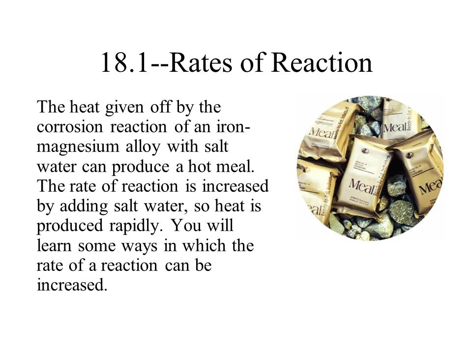 Rates of Reaction.