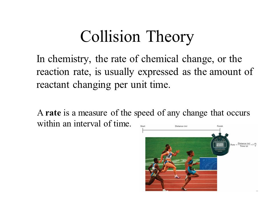 Rate and collison theory